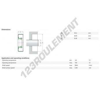 10124-SKF - 25.4x50.8x6.35 mm