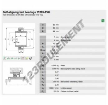 11205-TVH-FAG - 25x52x44 mm