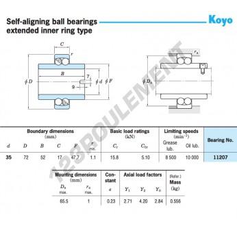 11207-KOYO - 35x72x52 mm