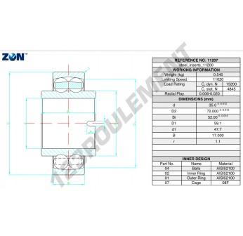 11207-ZEN - 35x72x52 mm