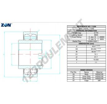 11209-ZEN - 45x85x58 mm