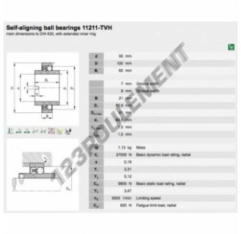 11211-TVH-FAG - 55x100x60 mm
