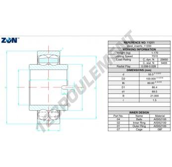 11211-ZEN - 55x100x60 mm