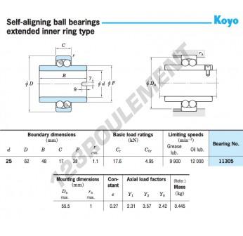 11305-KOYO - 25x62x48 mm