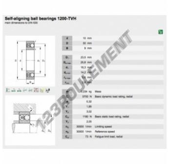 1200-TVH-FAG - 10x30x9 mm