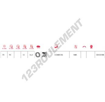 COMBI-SF6-70X95X15-16.50-NBR-CORTECO - 70x95x15 mm