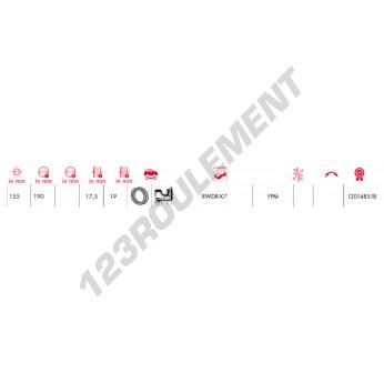 S155X190X17.50-19-RWDR-K7-FPM-CORTECO - 155x190x19 mm