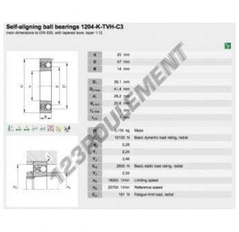 1204-K-TVH-C3-FAG - 20x47x14 mm