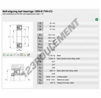 1205-K-TVH-C3-FAG - 25x52x15 mm