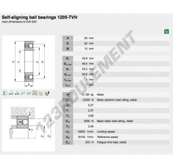1205-TVH-FAG - 25x52x15 mm