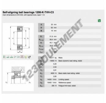 1206-K-TVH-C3-FAG - 30x62x16 mm