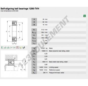1206-TVH-FAG - 30x62x16 mm