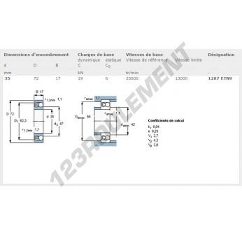 1207-ETN9-SKF - 35x72x17 mm