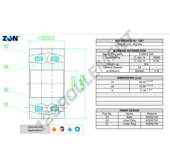 1207-ZEN - 35x72x17 mm