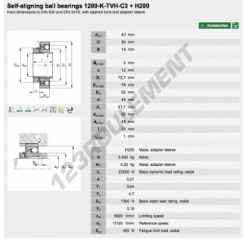 1209-K-TVH-C3-H209-FAG - 40x85x19 mm