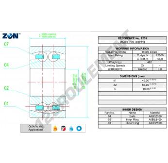 1209-ZEN - 45x85x19 mm