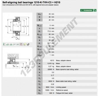 1210-K-TVH-C3-H210-FAG - 45x90x20 mm