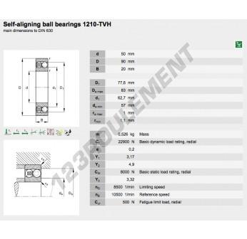 1210-TVH-FAG - 50x90x20 mm