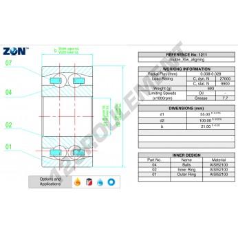 1211-ZEN - 55x100x21 mm