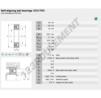 1213-TVH-FAG - 65x120x23 mm