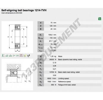 1214-TVH-FAG - 70x125x24 mm