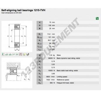 1215-TVH-FAG - 75x130x25 mm