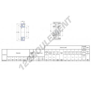 1218-K-SKF - 25x52x15 mm
