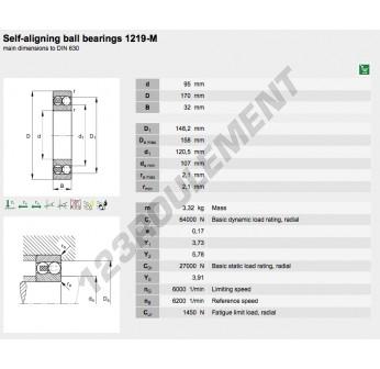 1219-M-FAG - 95x170x32 mm