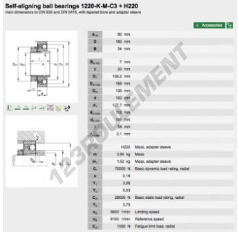 1220-K-M-C3-H220-FAG - 90x180x34 mm