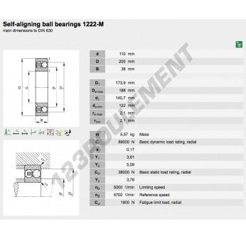 1222-M-FAG - 110x200x38 mm