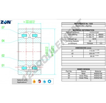 1222-ZEN - 110x200x38 mm