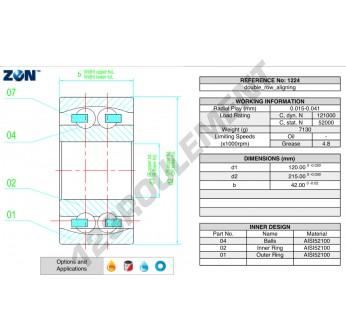 1224-ZEN - 120x215x42 mm