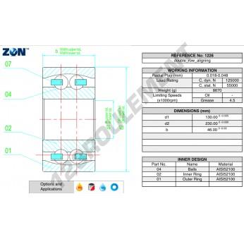 1226-ZEN - 130x230x46 mm