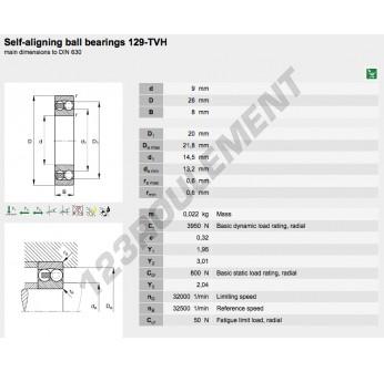 129-TVH-FAG - 9x26x8 mm