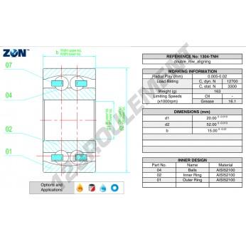 1304-TNH-ZEN - 20x52x15 mm