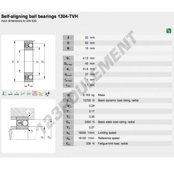 1304-TVH-FAG - 20x52x15 mm