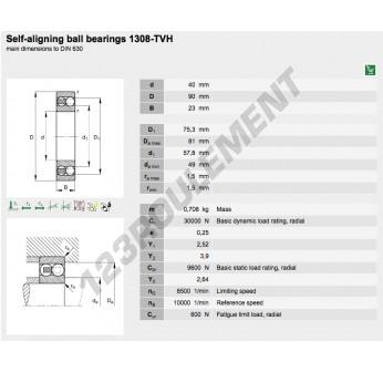 1308-TVH-FAG - 40x90x23 mm