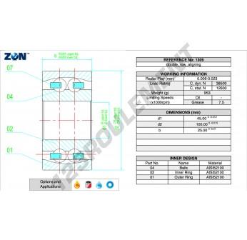 1309-TN-ZEN - 45x100x25 mm