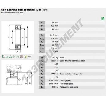 1311-TVH-FAG - 55x120x29 mm
