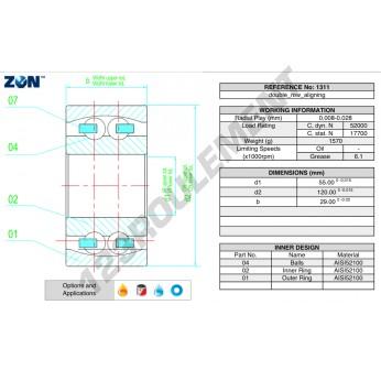 1311-ZEN - 55x120x29 mm