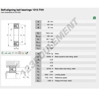 1313-TVH-FAG - 65x140x33 mm