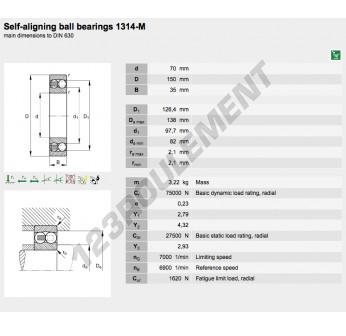1314-M-FAG - 70x150x35 mm