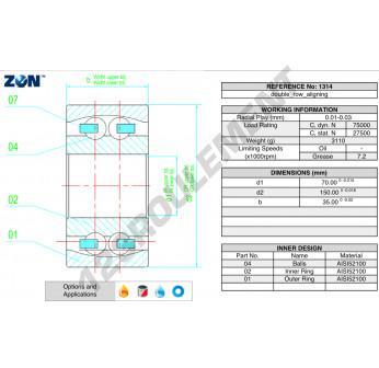 1314-ZEN - 70x150x35 mm