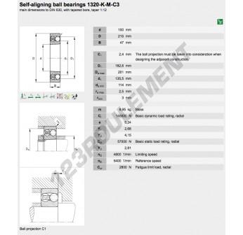 1320-K-M-C3-FAG - 100x215x110 mm