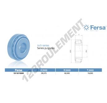 15112-15245-ASFERSA - 28.58x62x19.05 mm