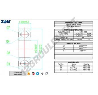 16006-ZEN - 30x55x9 mm