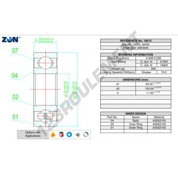 16013-ZEN - 65x100x11 mm