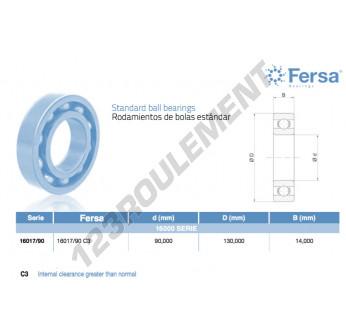 16017-90-C3-ASFERSA - 90x130x14 mm