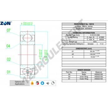 16018-ZEN - 90x140x16 mm