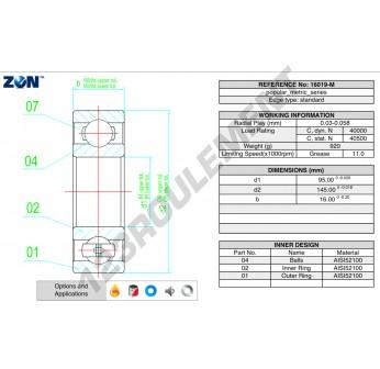16019-M-ZEN - 95x145x16 mm